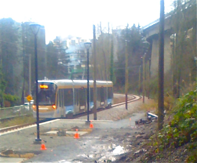 The Olympic Streetcar During Testing