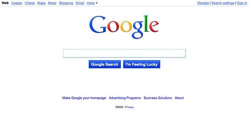 Google Blue Jazz Interface