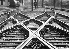 French Market Stop No.1 - Riverfront Streetcar, New Orleans, LA (SCFiasco) Tags: railroad deleteme5 deleteme8 blackandwhite bw deleteme deleteme2 deleteme3 deleteme4 deleteme6 deleteme9 deleteme7 metal train ties switch bravo iron cross saveme2 deleteme10 xx neworleans tracks award rr x symmetry diamond stop frenchquarter lousiana nola xxx streetcar asymmetry deleteme11 frenchmarket exchange soe blackdiamond nawlins saveme1 blueribbonwinner scfiasco supershot flickrsbest blackwhitephotos bej abigfave platinumphoto blackandwhiteonly theenchantedcarousel artofimages edsiasoco elitegalleryaoi mygearandmepremium