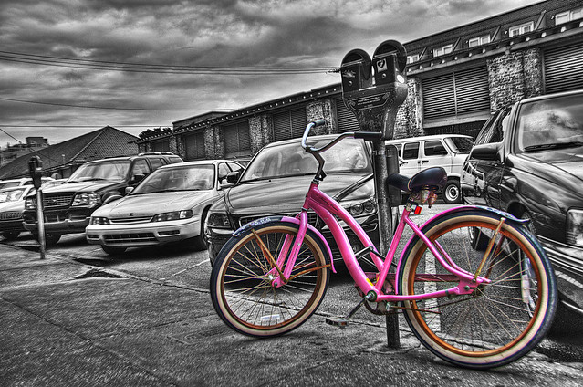 Pink Bicycle @ City Market