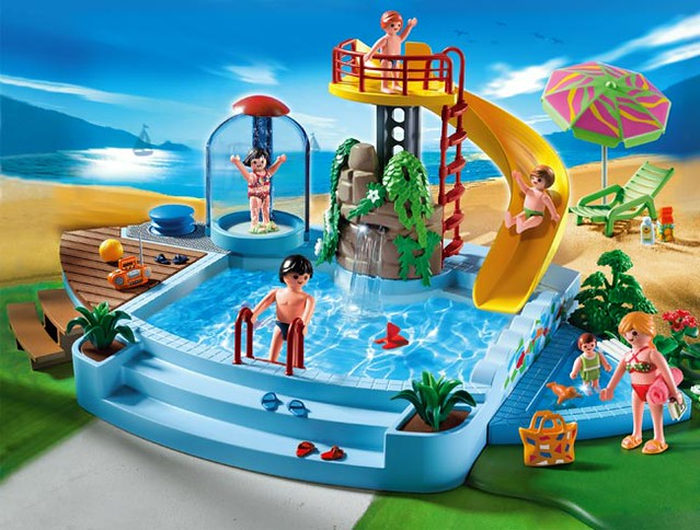 4858 Pool with Water Slide scene