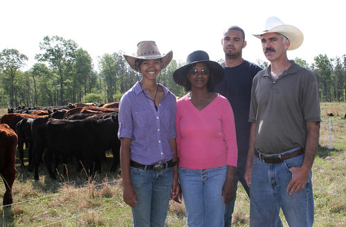 left to right: Rachel, Olivia, Marcellus and Paxton Pegues own and operate an organic livestock operation in Chesterfield, SC, and are protecting and improving their resources with the help of NRCS' Environmental Quality Incentives Program (EQIP) and Conservation Stewardship Program (CSP).