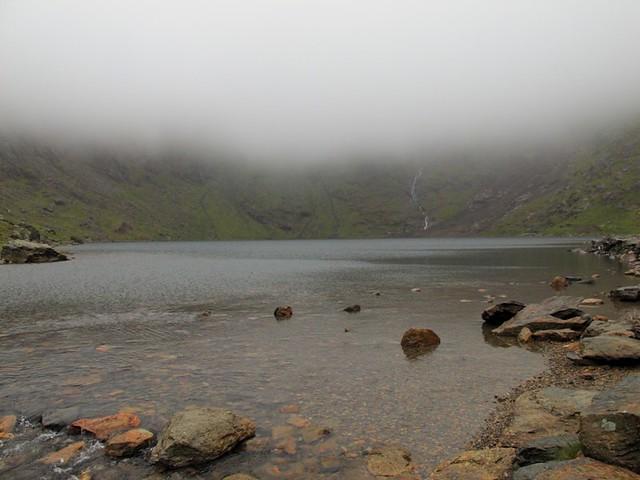 lac sous le fog