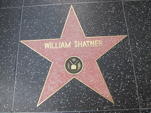 William Shatner star, Hollywood Boulevard