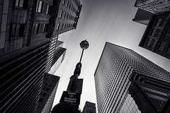 Surveillance (bprice0715) Tags: canon canoneos5dmarkiii canon5dmarkiii architecture architecturephotography buildings blackandwhite blackwhite bw monochrome city cityscape angles shapes lines nyc newyorkcity 42ndstreet longexposure leefilters bigstopper contrast lowkey