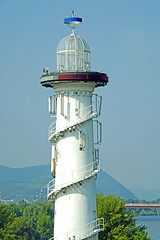 Austria-02813 - Not a Lighthouse (archer10 (Dennis) 90M Views) Tags: austria vienna globus sony a6300 ilce6300 18200mm 1650mm mirrorless free freepicture archer10 dennis jarvis dennisgjarvis dennisjarvis iamcanadian novascotia canada donaupark tower danube lighthouse theatre