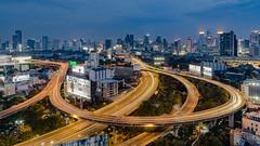 Bangkok City (Flutechill) Tags: bangkok highway expressway street road city cityscape citylife thailand building skyline night nightscape