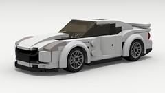 Nissan GT-R (LegoGuyTom) Tags: nissan gtr classic vintage 2000s 2010s japanese japan speed speedster sport super supercar city car cars datsun lego legos ldd legodigitaldesigner digital designer dropbox download nismo pov povray legocity lxf