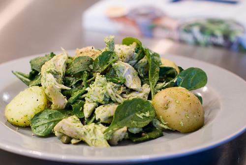 Potato & Chicken Salad with Salsa Verde