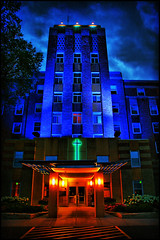 bethesda hospital (Dan Anderson (dead camera, RIP)) Tags: blue color saint minnesota st night hospital paul lights system programs twincities care facility bethesda mn rehab rehabilitation dananderson healtheast