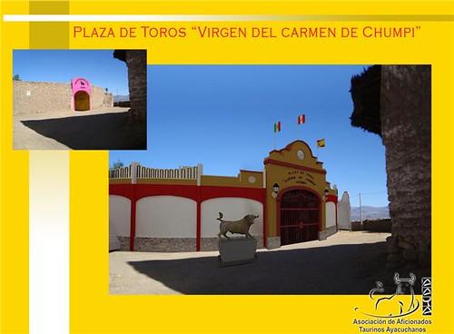 Maqueta de la plaza de toros de Chumpi