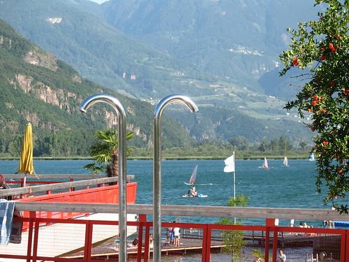 Blick vom neuen Freibad auf den See