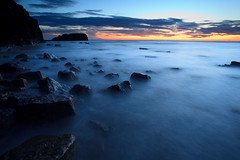 Saltwick bay (Quyntessential) Tags: blue sea sunrise dawn bay yorkshire north saltwick