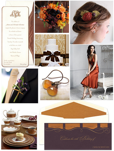 Copper and Plum Wedding