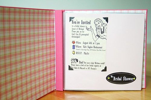 Bridal Shower Scrapbook - Title Page