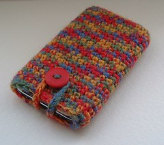 Phone Pouch (sophiecat91) Tags: sock crochet case phonepouch