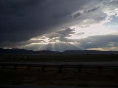 call from the heavens... (a rusty nail in your foot) Tags: sun clouds utah heaven