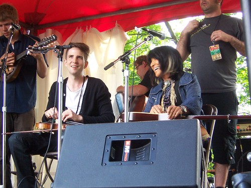 Owen and Buffy Sainte-Marie at Hillside 2009