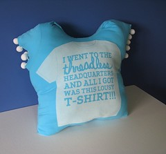 Tee pillow for Bloggeraiser
