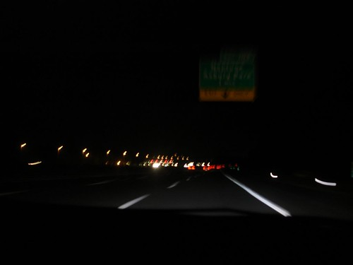 Dark picture of the highway #1