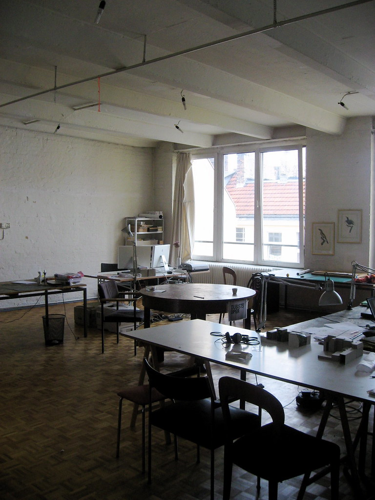 the artist studio in the front