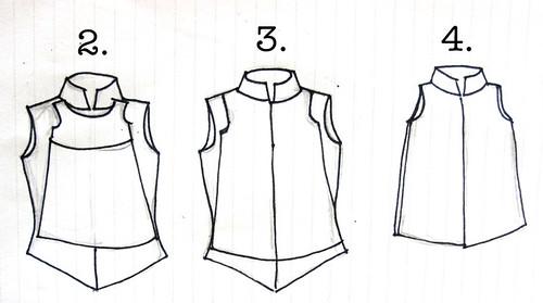 shirt dress steps 1-4