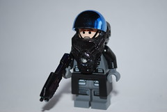 Orbital Drop Shock Trooper (The Sargeant of Randomness (no longer active)) Tags: trooper soldier lego space awesome rifle drop orbital future shock futuristic assualt brickarms