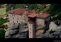 Meteora.The Holy Monastery of Rousanou - St. Barbara (Peer.Gynt) Tags: rocks cliffs unesco greece monastery meteora orthodoxchurch kalambaka  rousanou thessalia  ysplix      peergyntphotos