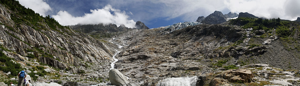 Panorama sur le glacier