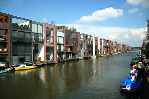 The celebrated canal in Amsterdam. Photo from Flickrs Creative Commons by sporkist.