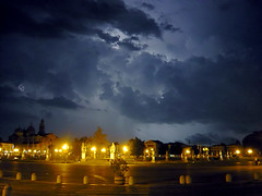lightning above Prato della Valle (wisperkukacyahu) Tags: above italy storm rain night square shot wind valle lightning este della eső prato padova vihar tér éjszaka olaszország villám felett szél
