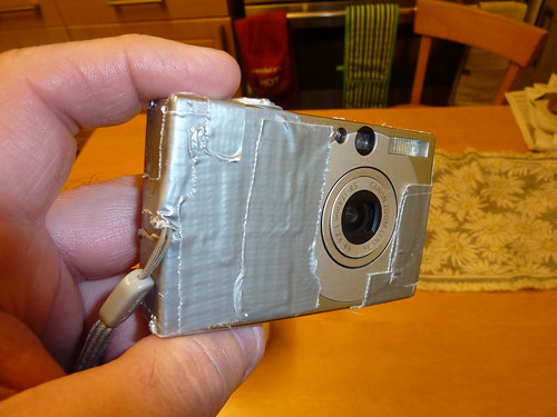 Classy repair job.