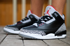Black cement. (Daniel.Lam) Tags: 3 black out photography 50mm nikon focus you bokeh d background daniel air cement blurred nike retro wear jordan pack what remote did nikkor 18 today countdown ml lam l3 cdp d80 daniellam of wdywt daniellamphotography