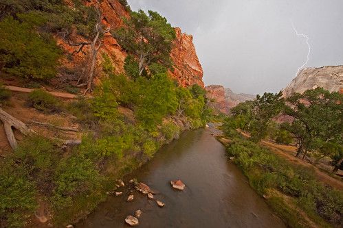 Lightning Strikes at Zion