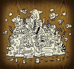 a doodlecloud (Zeptonn) Tags: test illustration cutout experiment doodle freedrawing