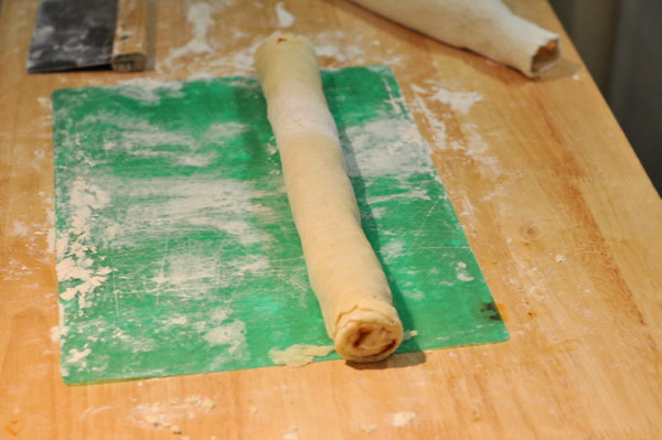 dough rolled into a cylinder