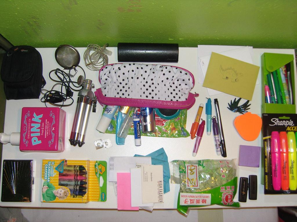 Inside my black Coach purse.