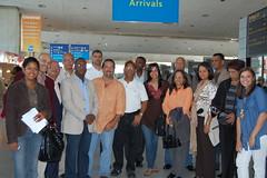 La delegación de periodistas de RD al llegar a París