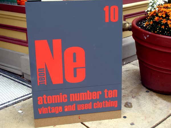 Neon atomic number ten
