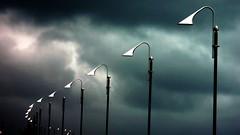 guardando il cielo!EXPLORE (viaggiaresiii) Tags: sky nuvole nuvola estate cielo luci azzurro colori pioggia bianco atmosfera nero lampioni simmetria lampione temporale prospettiva sogni sensazioni emozioni simmetrie schiarita cirri justclouds limagecolor