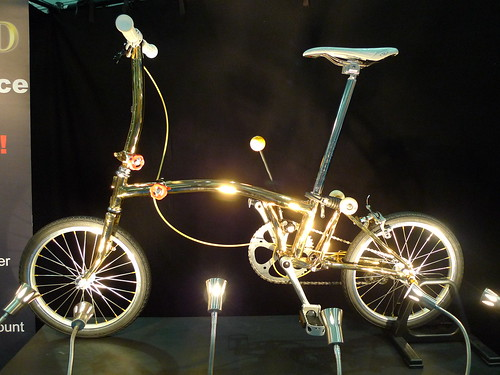 Gold plated Brompton bling
