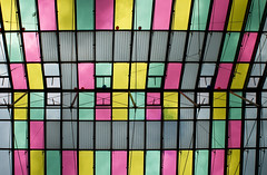 colored glass roof @ rathausgalerien innsbruck austria (Toni_V) Tags: abstract architecture sterreich europe 2009 innsbruck d300 2028 mariatheresienstrasse toniv rathausgalerien dsc4080 091010