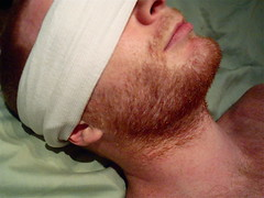 wbw - blindfold (redjoe) Tags: nyc newyorkcity man hot guy me face self hair fur beard ginger fuzzy manhattan lips redhead tanktop freckles redhair fuzz blindfold wbw redjoe joehorvath