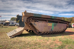 IMG_1322_3_4_tonemapped (SdcRX4) Tags: virginia buffalo wwii vehicles armored hdr amphibious tracked nmaw lvt photomatix nokesville