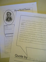 thoreau notebook page