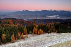 Soft Morning Touch ~ High Tatras, Slovakia (Martin Sojka .. www.VisualEscap.es) Tags: morning pink blue autumn trees sky lake snow mountains fall nature colors landscape high vivid olympus slovensko slovakia grad zuiko hitech tatry e30 tatras hory 1260 zd hightatras vysoketatry 1260mm