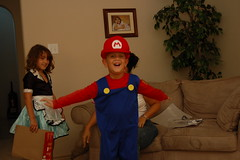 Costumes! (Fort Worth Squatch) Tags: costumes halloween mario waitress