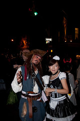 A Johnny Depp Pirate and French Maid