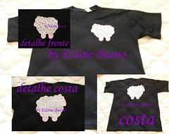 Camiseta ovelhinha com detalhes (Elaine Bueno) Tags: camiseta bordado aplique patchcolagem