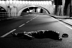 On a road (Jordy B) Tags: road bridge bw paris france seine death noiretblanc mort route pont rue quai mrpan bestofr